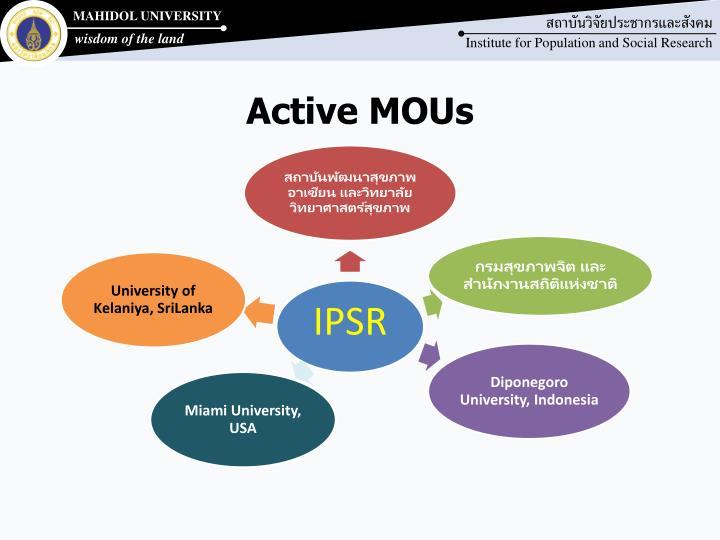 Active MOUs