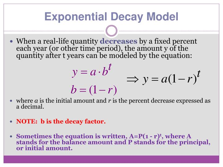 Exponential Decay Model