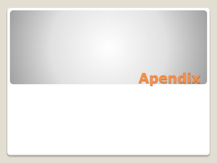 Apendix