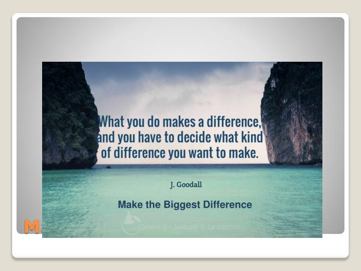 Make the Biggest Difference