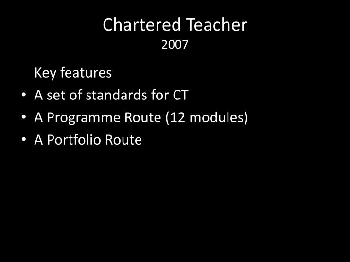 Chartered Teacher