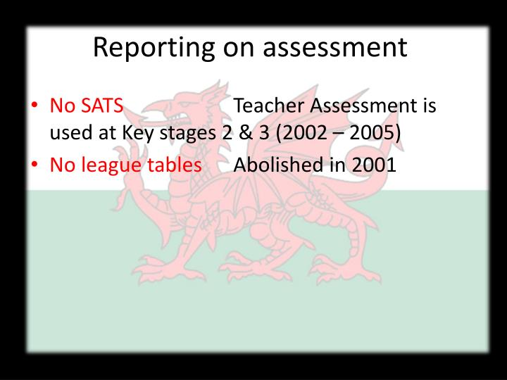 Reporting on assessment