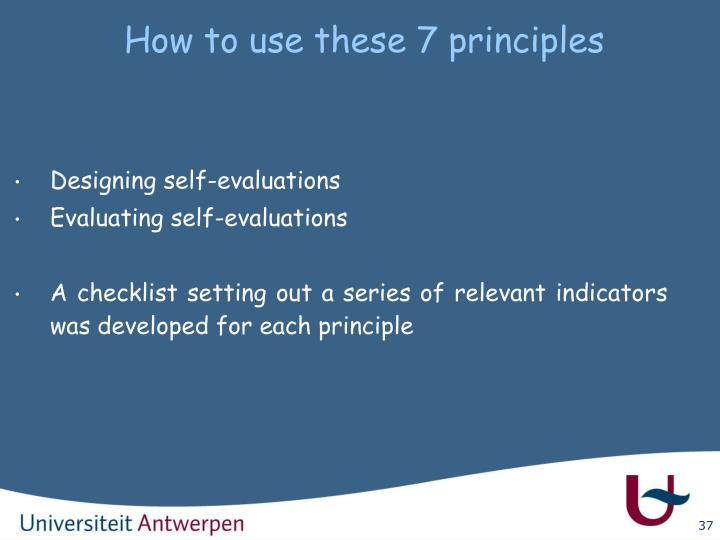 How to use these 7 principles