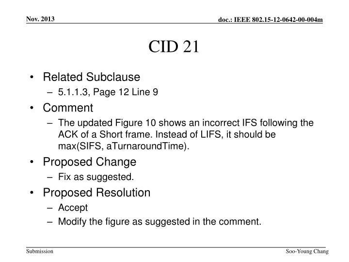 CID 21