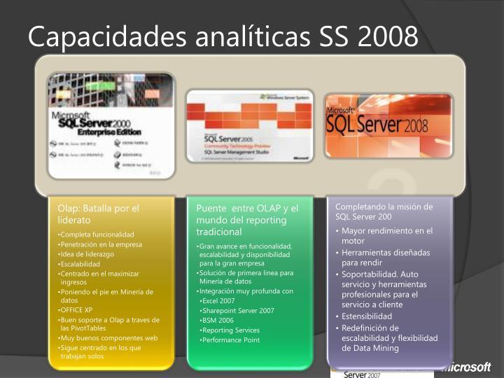 Capacidades analíticas SS 2008