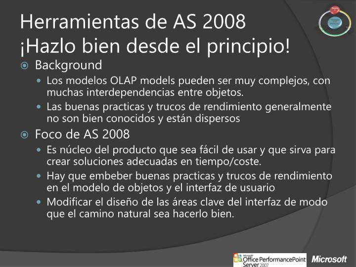 Herramientas de AS 2008