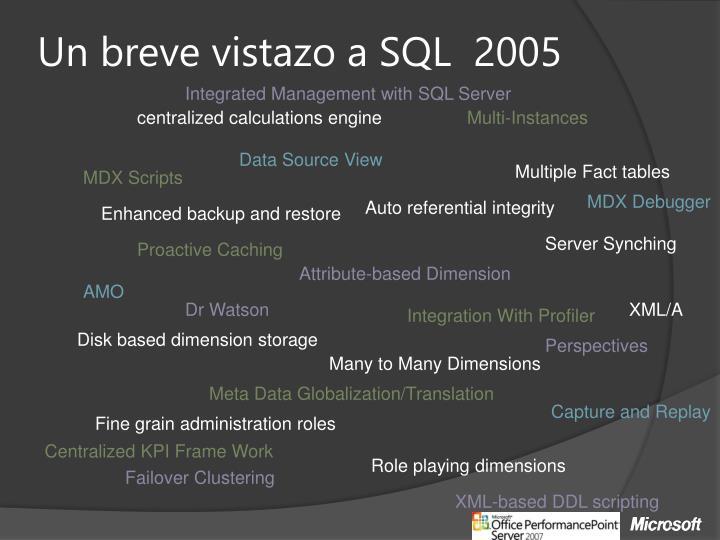Un breve vistazo a SQL  2005