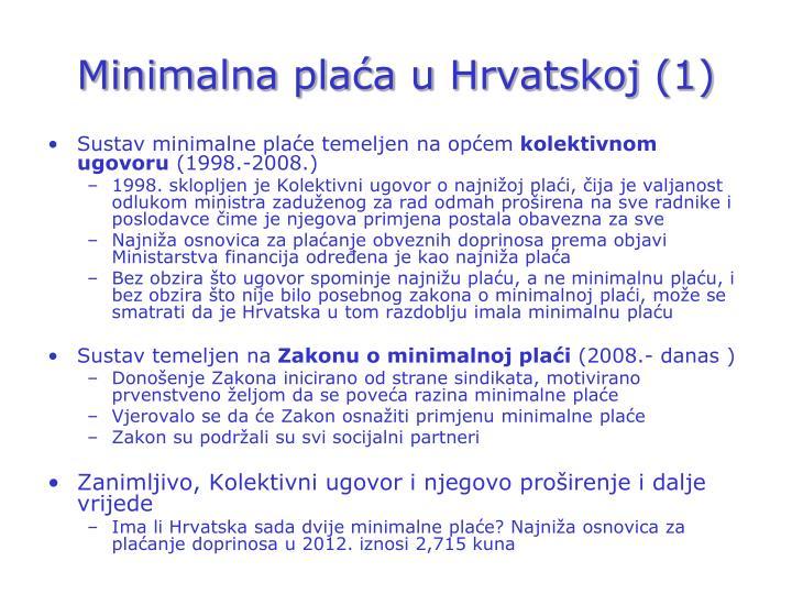 Minimalna plaća u Hrvatskoj (1)