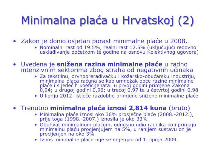Minimalna plaća u Hrvatskoj (2)