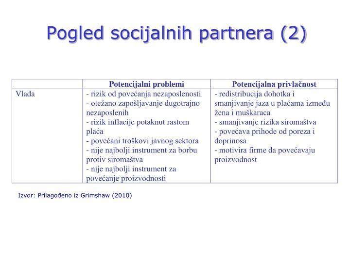 Pogled socijalnih partnera (2)
