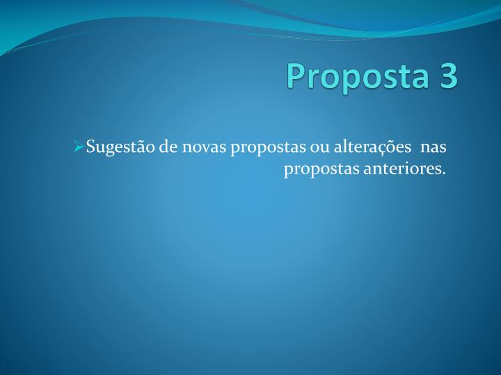 Proposta 3