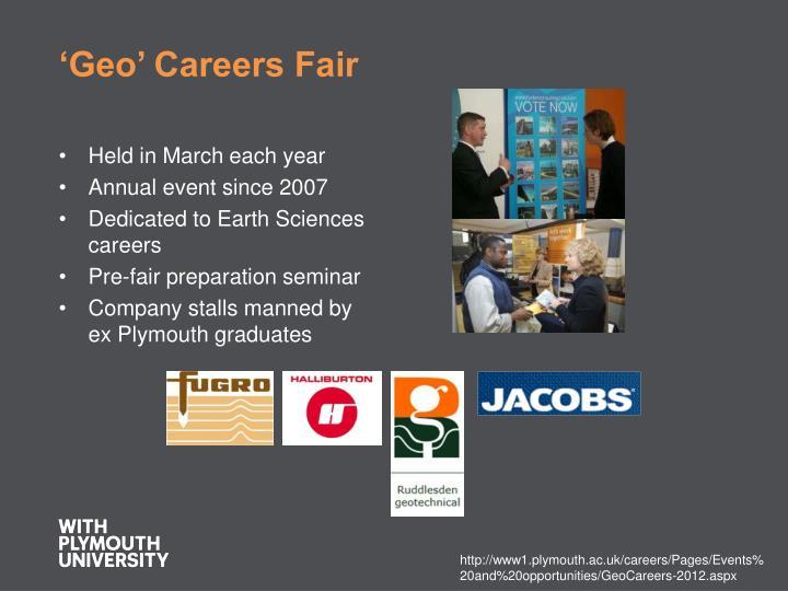 'Geo' Careers Fair