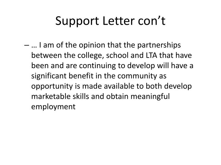 Support Letter