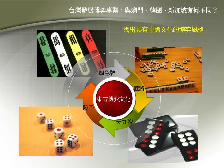台灣發展博弈事業,與澳門、韓國、新加坡有何不同?