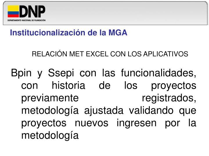 Institucionalización de la MGA