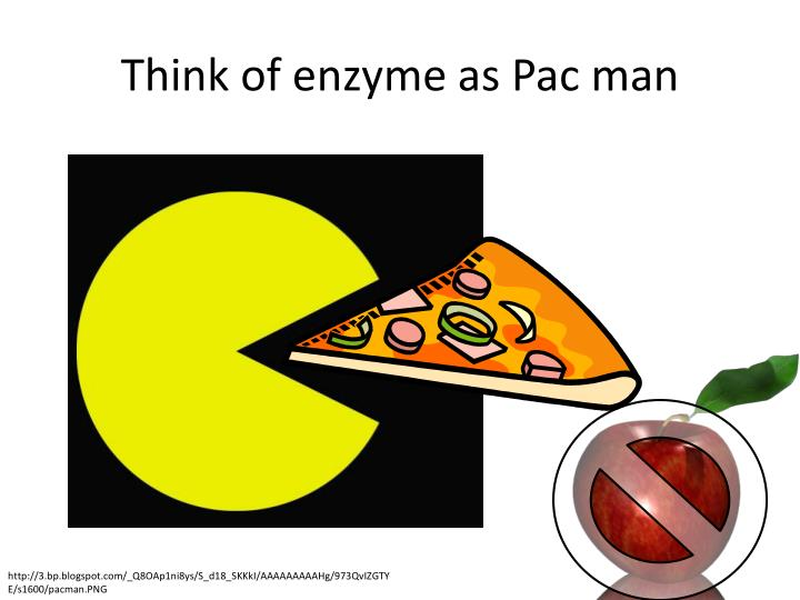 Think of enzyme as Pac man