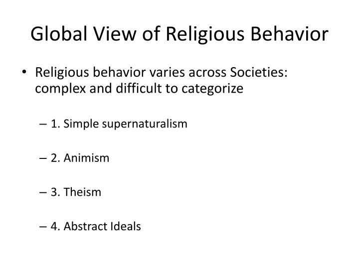 Global View of Religious Behavior