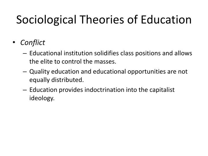 Sociological Theories of Education