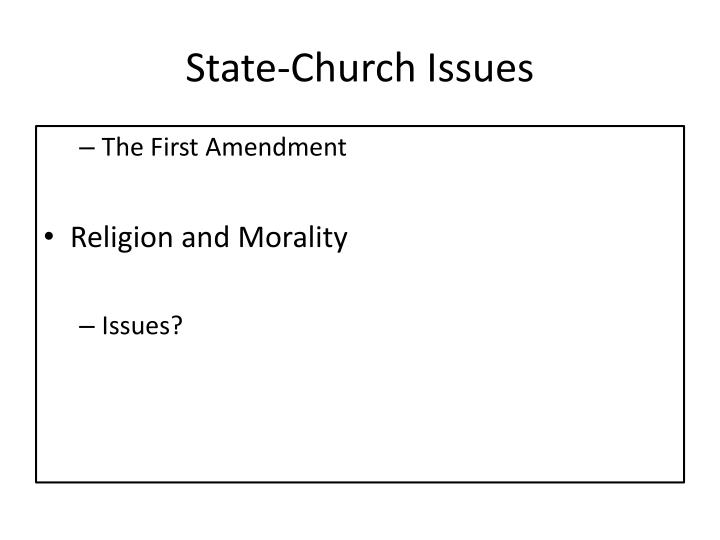 State-Church Issues