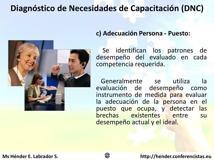 Diagnóstico de Necesidades de Capacitación (DNC)