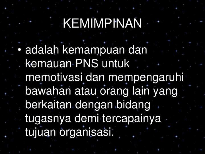 KEMIMPINAN