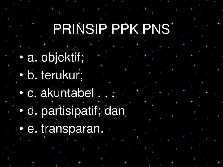 PRINSIP PPK PNS