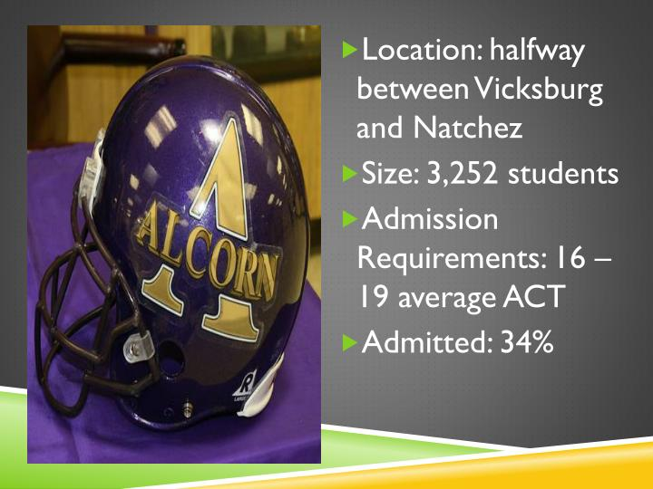 Location: halfway between Vicksburg and Natchez