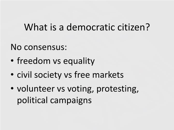 What is a democratic citizen?