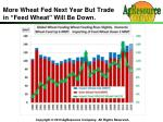 more wheat fed next year but trade in feed wheat will be down