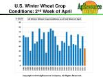u s winter wheat crop conditions 2 nd week of april