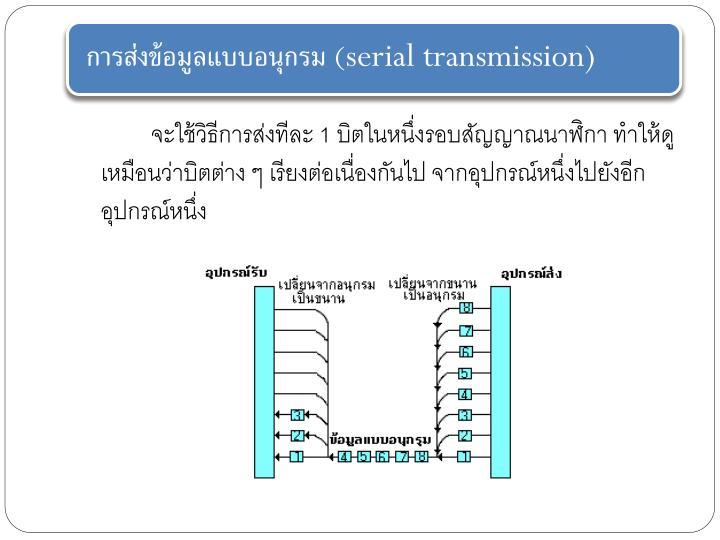 การส่งข้อมูลแบบอนุกรม(