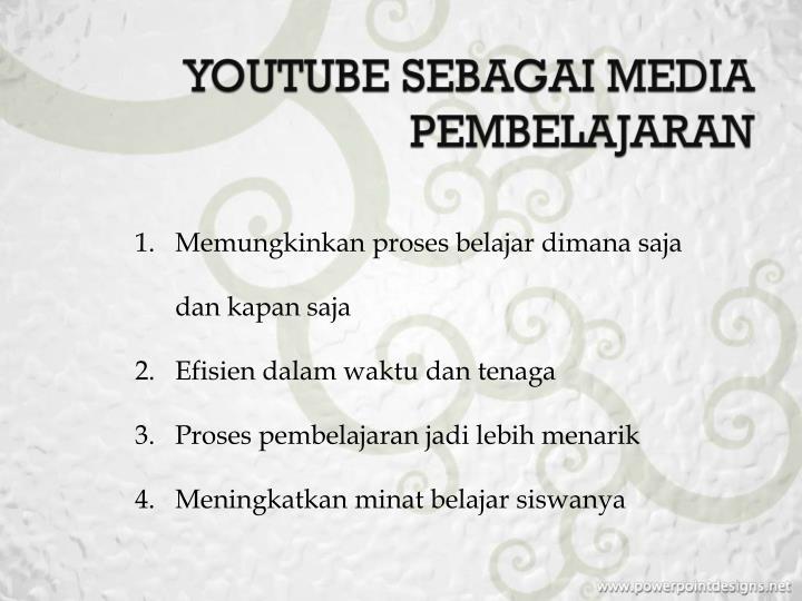 YOUTUBE SEBAGAI MEDIA PEMBELAJARAN