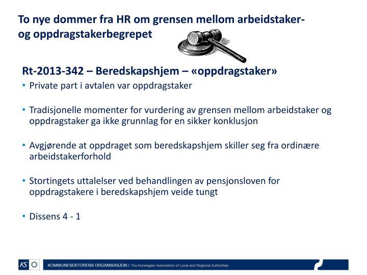 To nye dommer fra HR om grensen mellom arbeidstaker- og oppdragstakerbegrepet