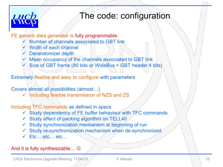The code: