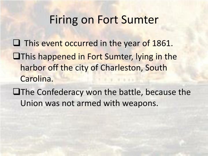 Firing on Fort Sumter