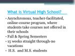 what is virtual high school