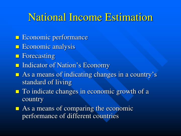 National income estimation