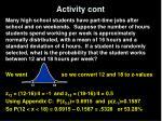 activity cont