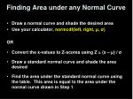 finding area under any normal curve