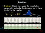 z tables
