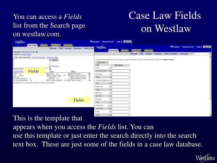 Case Law Fields