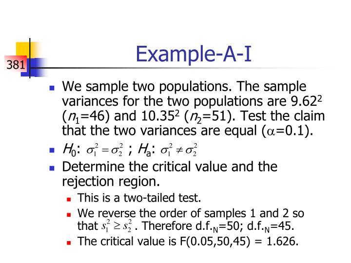Example-A-I