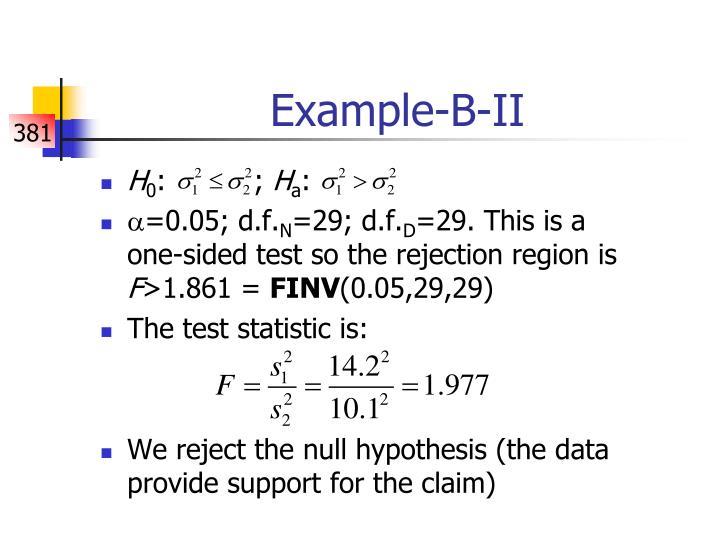 Example-B-II