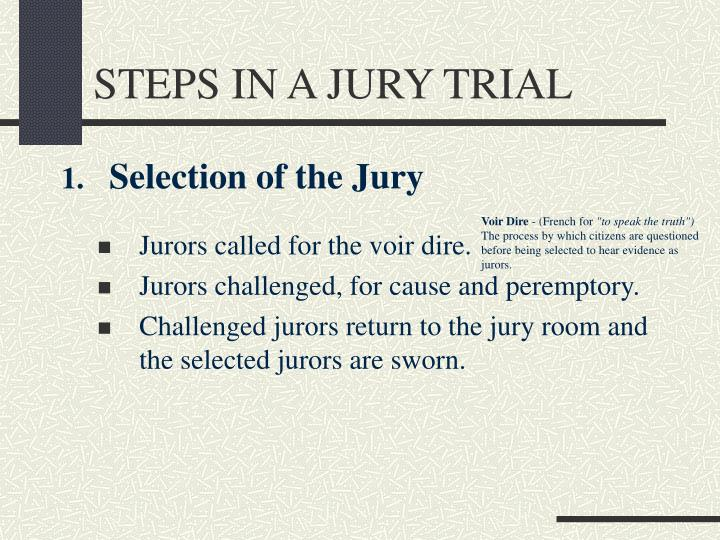 Steps in a jury trial2