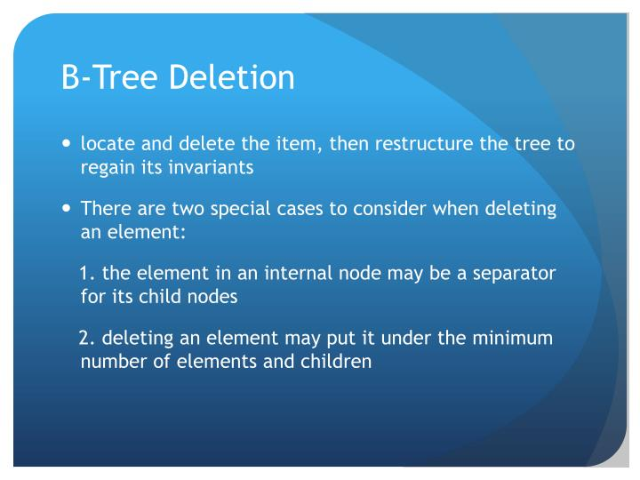 B-Tree Deletion