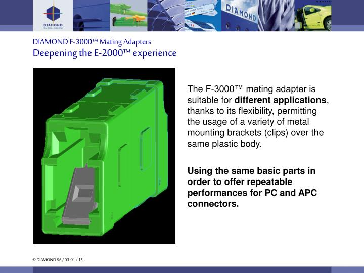 DIAMOND F-3000™ Mating Adapters