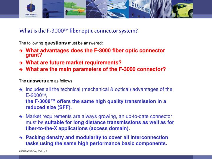 What is the F-3000™ fiber optic connector system?