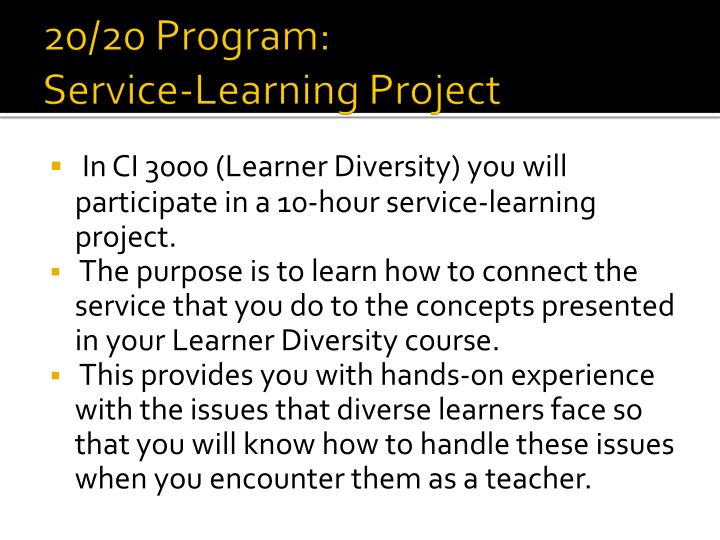 20/20 Program: