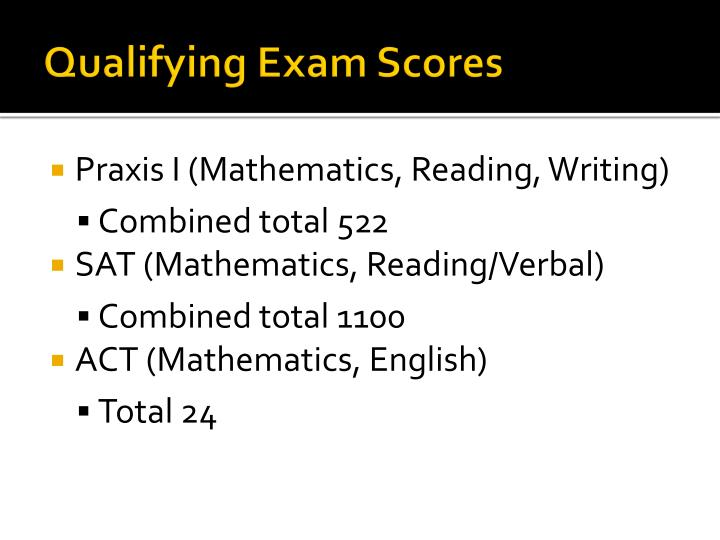 Qualifying Exam Scores