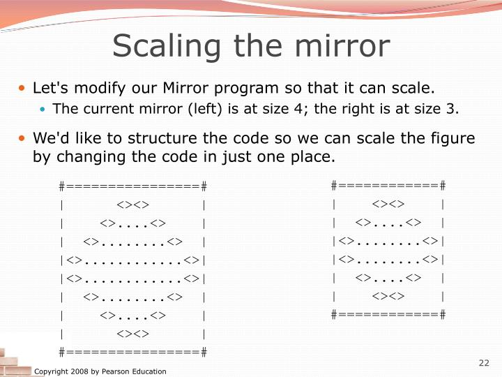 Scaling the mirror